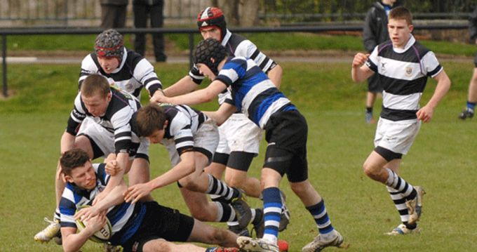 Crescent College Comprehensive and PBC pictured in Round 1 of the Schools Junior Cup at the Mardyke, Cork.
