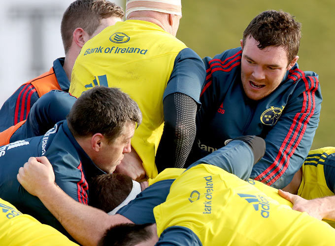 Peter O'Mahony in the thick of it