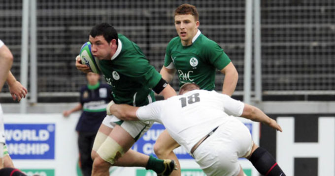 Munster's Paddy Butler in Action for Ireland