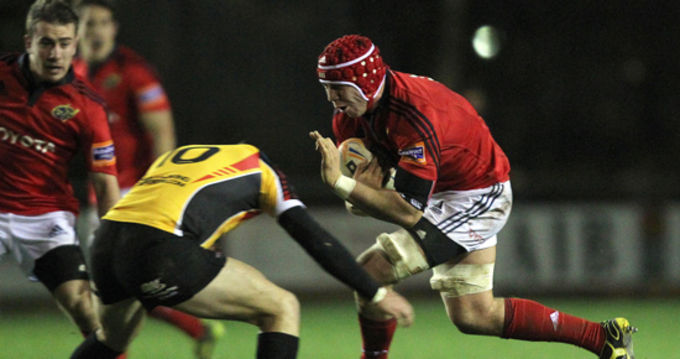 Paddy Butler in B&I Cup action against Cornish Pirates