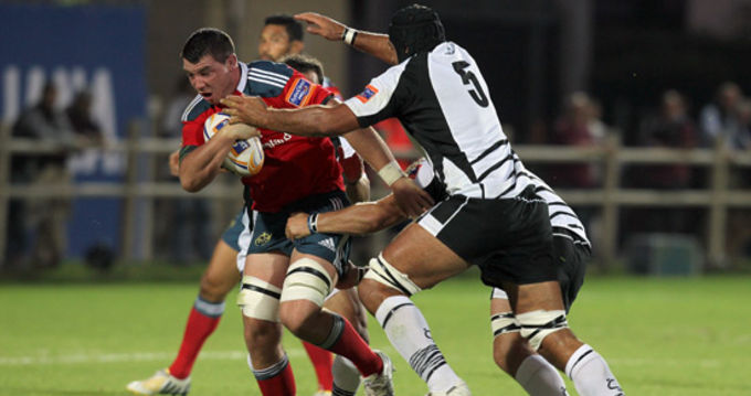 Paddy Butler in action against Zebre