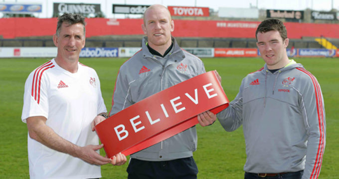 Rob Penney, Paul O'Connell and Peter O'Mahony back the 'Believe' initiative supporting Jigsaw and youth mental health