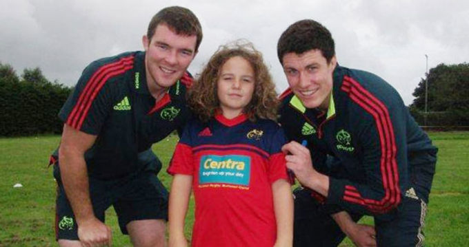 Peter O'Mahony and Ian Nagle at Muskerry RFC