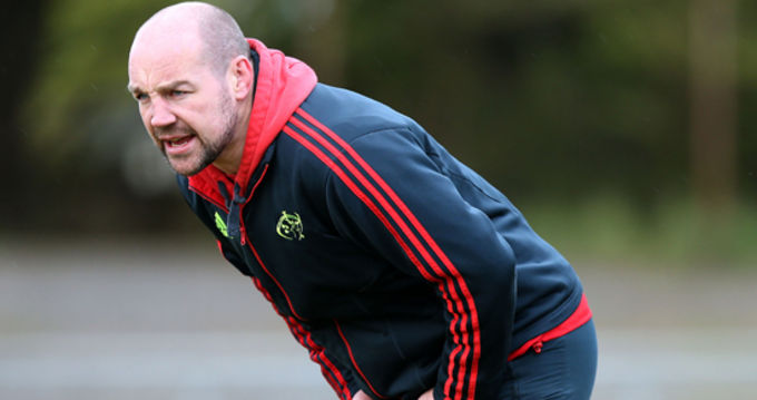 Munster Academy Manager and Munster A Head Coach Peter Malone