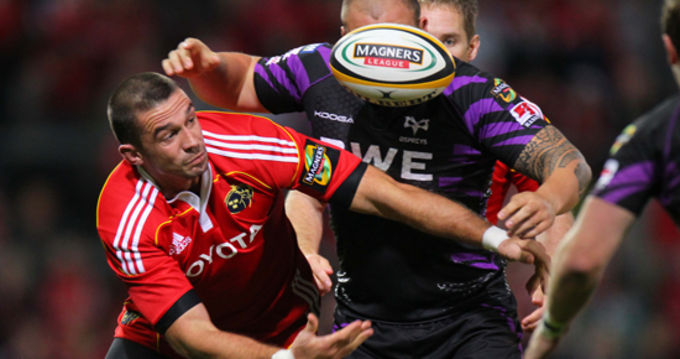 Alan Quinlan making his 200th competitive cap against the Ospreys tonight in Thomond Park
