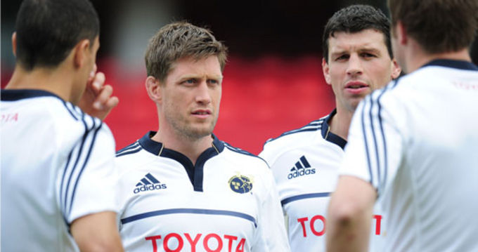 Ronan O'Gara wearing the alternate kit for 2011/12