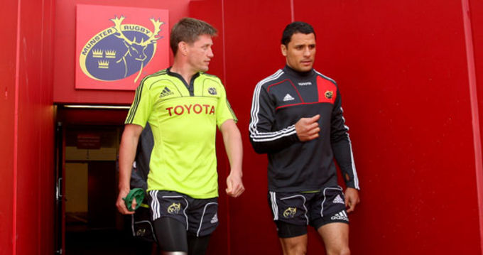 Ronan O'Gara and Doug Howlett, two of four nominees named for the Munster Player of the Year