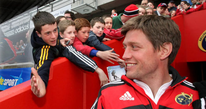 Ronan O'Gara and Munster supporters pictured at the last open day held in Thomond Park
