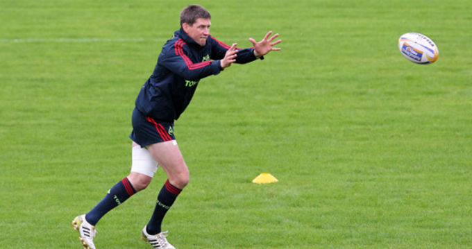 Hands out for Ronan O'Gara ready for action