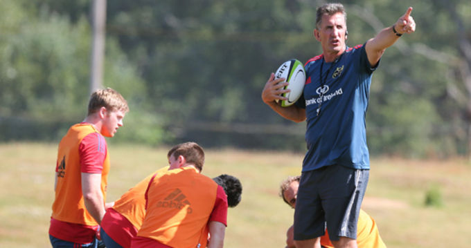 Rob Penney at Munster training