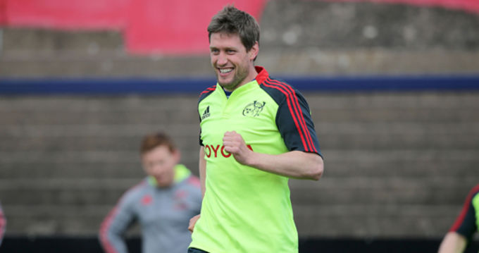 Ronan O'Gara enjoying the morning session