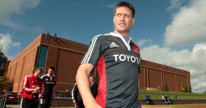 Ronan O'Gara at Munster training in UL