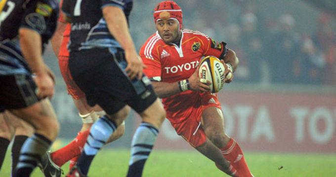 Sam Tuitupou in action against the Cardiff Blues