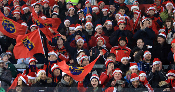 It's that time of year again, December Heineken Cup action in Thomond Park - where's your Santa Hat?