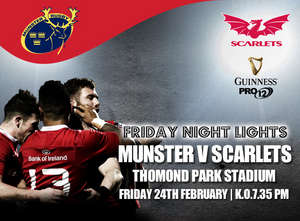 Ticket Update: Scarlets In Thomond Park On Friday