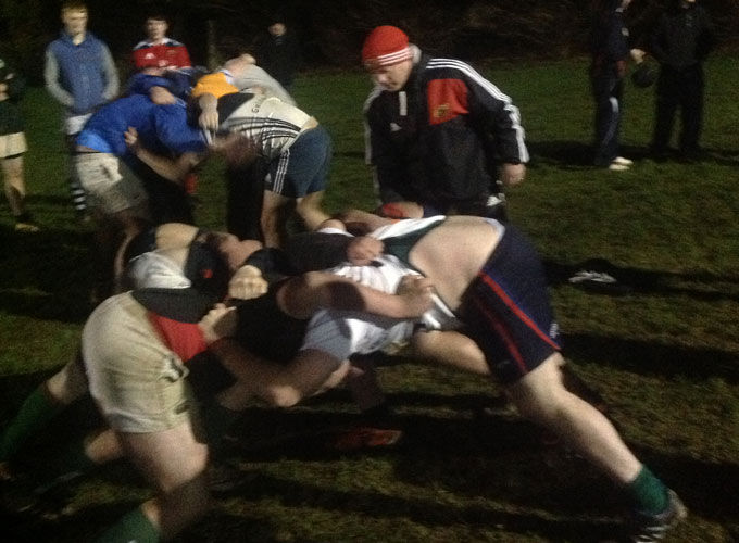 Scrum technique training at Clonakilty RFC
