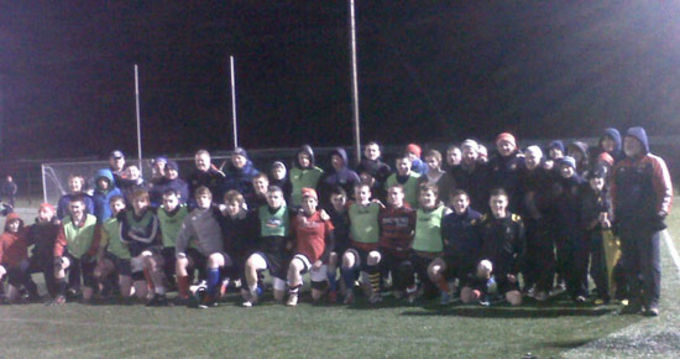 Participants at the Munster Rugby Scrum Clinic in Tralee IT