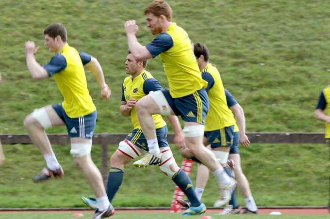Sean Dougall and Munster team warm in UL