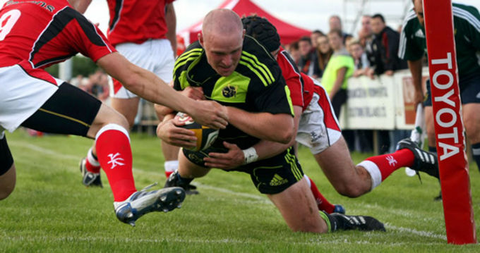 Sean Henry in action for Munster A against Ulster Ravens