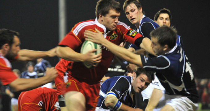 Sub academy player Sean Henry in action for Munster A against Leinster A