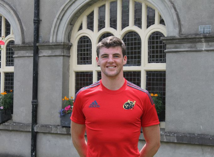 Munster Under 19 second row Seán O'Connor pictured at Rockwell College.