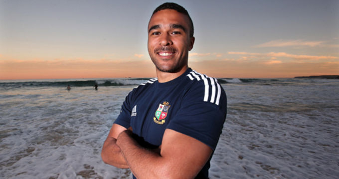 Simon Zebo - could he be any happier!