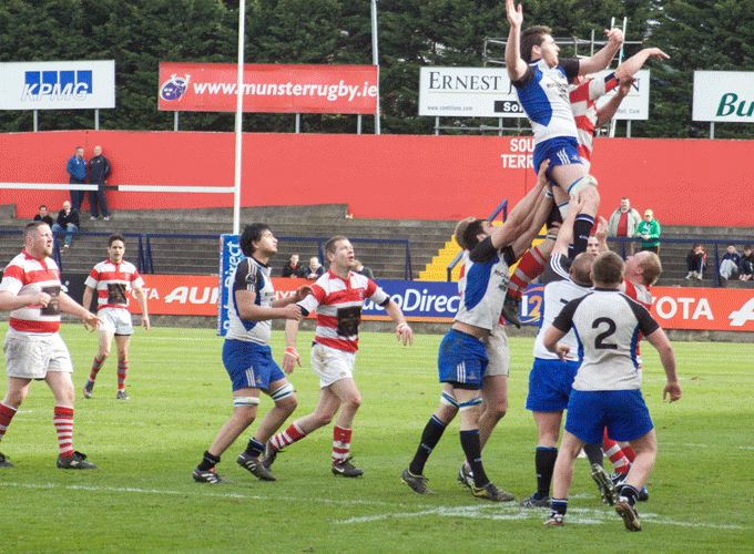 Skibbereen in action against Cork Con during the 2012 Munster Junior Cup final in Musgrave Park.