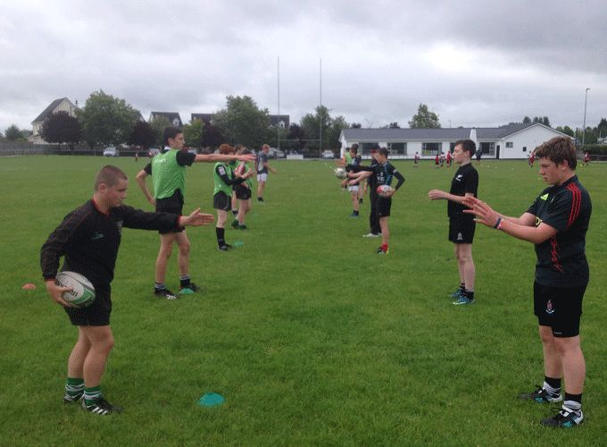 Thurles youth players take part in Munser Rugby Skills Camp