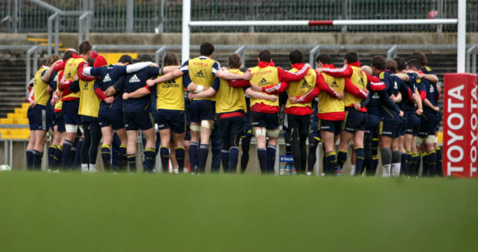 The Munster Squad looking for an overall team performance on Saturday April 10th in Thomond Park