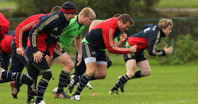 Munster squad training in CIT