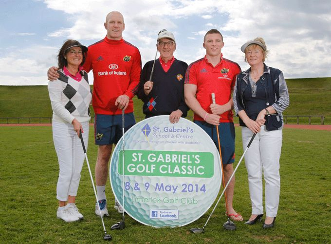 Paul O'Connell and Andrew Conway supporting St Gabriel's School and Centre