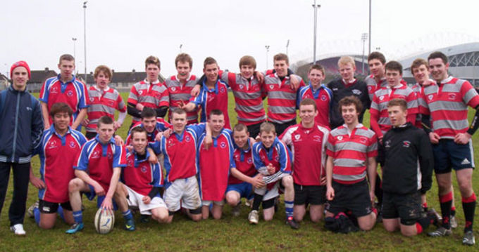 St. Nessans Community College and Glenstal Abbey School 7 a-side players