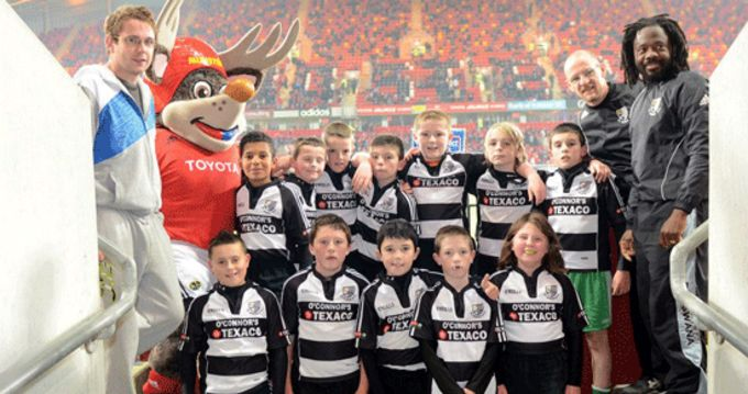 St. Senan's U12 squad pictured at Thomond Park Stadium