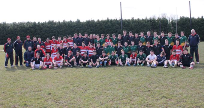 Players from South and West Munster pictured at Kanturk RFC