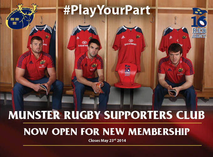 CJ Stander, Conor Murray and Mike Sherry invite you to #PlayYourPart and join the MRSC