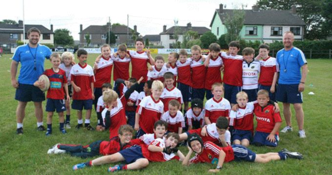 Participants attending this week's Summer Camp at Cobh RFC