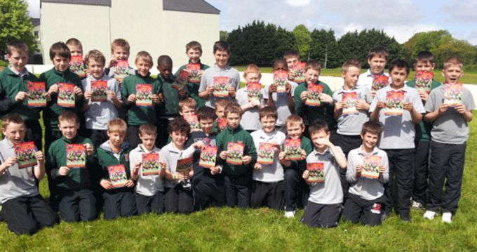 Pupils from Monastery National School, Killarney, looking forward to Munster Rugby Summer Camps 2013