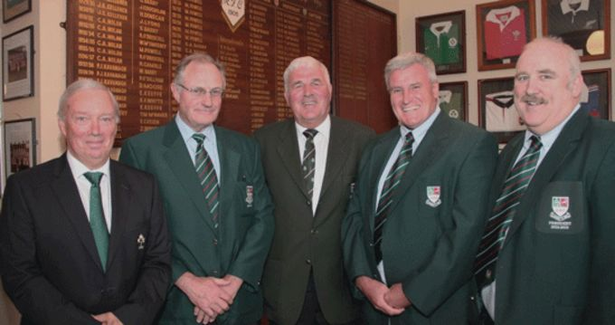 Nick Comyn, Michael Powell (Chairperson), Doc Carroll, Alec Rose and Brendan Kenneally pictured at the Sunday's Well Clubhouse