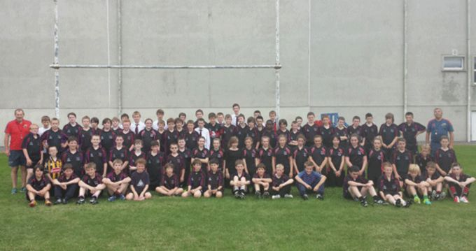 Boys and girs from Waterpark School following their Tag Rugby Blitz