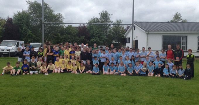 Boys and girls at the Thurles RFC open day