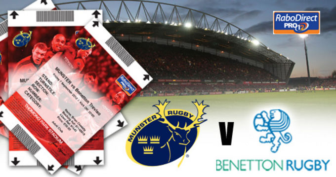 Tickets available to buy for Munster v Treviso