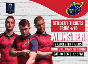 Ticket & Matchday Info: Munster v Leicester Tigers