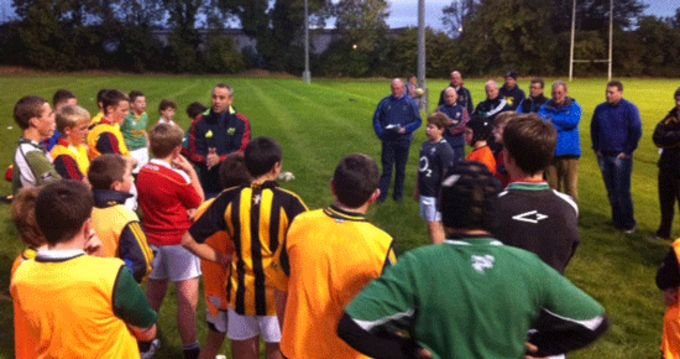 Johnny Lacey presents an outdoor module at the Tipperary Coaching Workshop