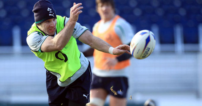 Tomas O'Leary in Irish training