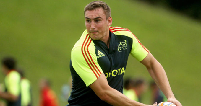 Tommy O'Donnell at squad training in UL