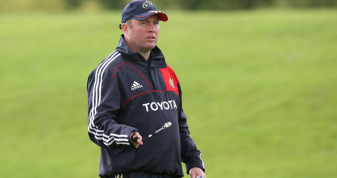 Tony McGahan leads the way at the squad training session in UL