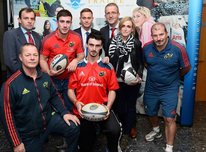 Munster player JJ Hanrahan pictured at the launch at Tralee IT