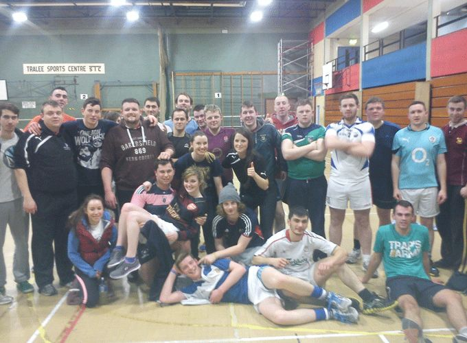 Tralee IT students pictured at Tag Rugby training
