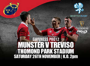Ticket & Matchday Info: Munster v Benetton Treviso