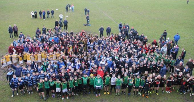 Participants at the Munster Rugby Mini Festival at Rockwell College